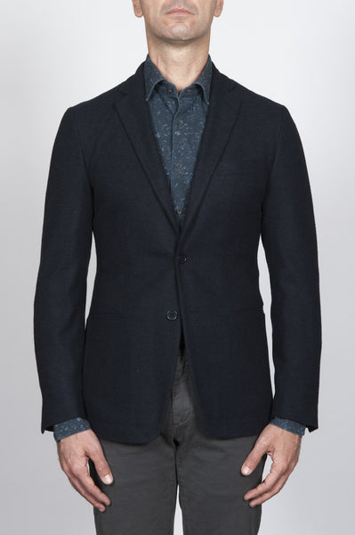 Strategic Business Unit - 00047 - Giacca Classic Monopetto Blue In Pura Lana Vergine - Classic Single Breasted Jacket In Blue Pure New Wool - 青色の純粋な新ウールクラシックシングルブレストジャケット
