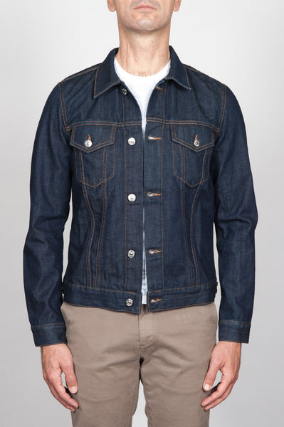 Strategic Business Unit - 00056 - Giubbino Jeans In Denim Giapponese Indaco Lavaggio Enzimatico - Jean Jacket In Japanese Denim Indigo Dyed Enzyme Washed - 日本のデニムのインディゴ染め酵素中のジーンズのジャケットを洗浄