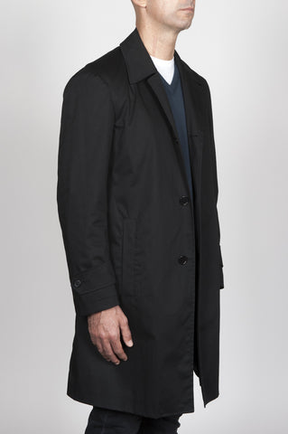 Strategic Business Unit - 00016 - Trench Classico Nero In Tessuto Impermeabile  - Classic Trench Coat In Black Waterproof Fabric - ブラック防水布クラシックトレンチコート