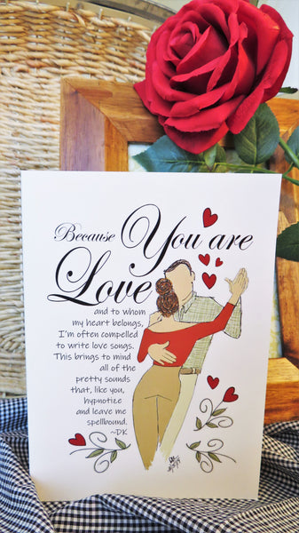 Sweethearts Dancing - Any Occasion Card