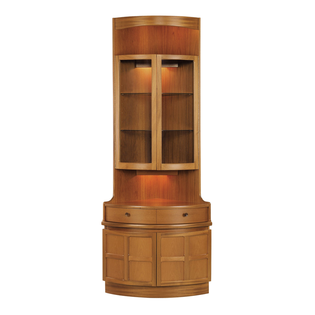 Nathan Classic Teak Bow Front Corner Unit Code 4164 Tjlevy Furniture