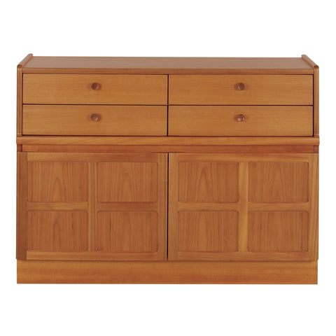 Nathan Classic Teak - 4 Drawer Mid Storage Unit - Code 4444