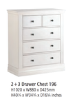 Corndell Annecy - 2 + 3 Drawer Chest - A196