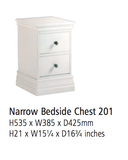 Corndell Annecy - Narrow Bedside Chest - A201