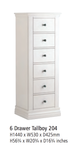 Corndell Annecy - 6 Drawer Tallboy - A204