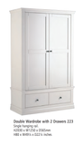 Corndell Annecy - Double Wardrobe with 2 Drawers (KD) - A223