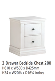 Corndell Annecy - 2 Drawer Bedside Chest - A200