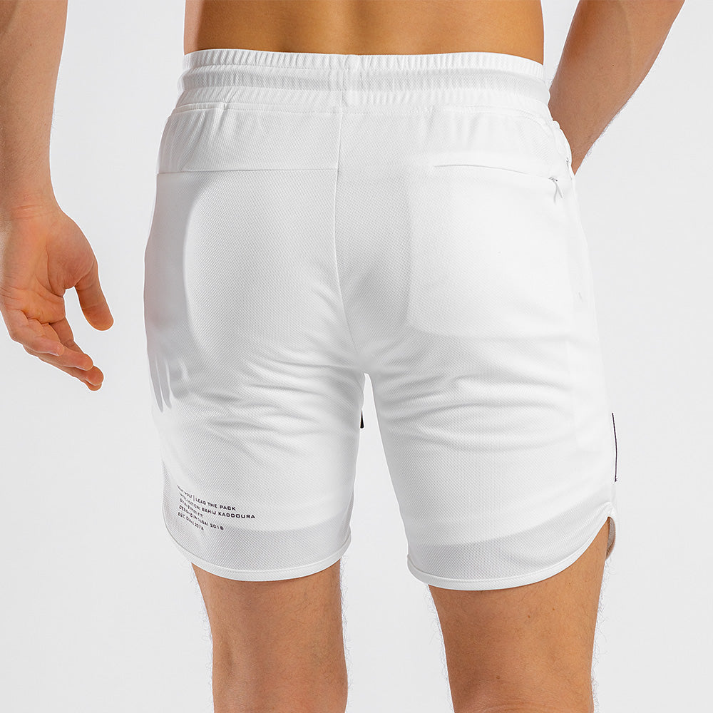 Squat Wolf - Hype Gym Shorts - White - SQ0009-WHT-M
