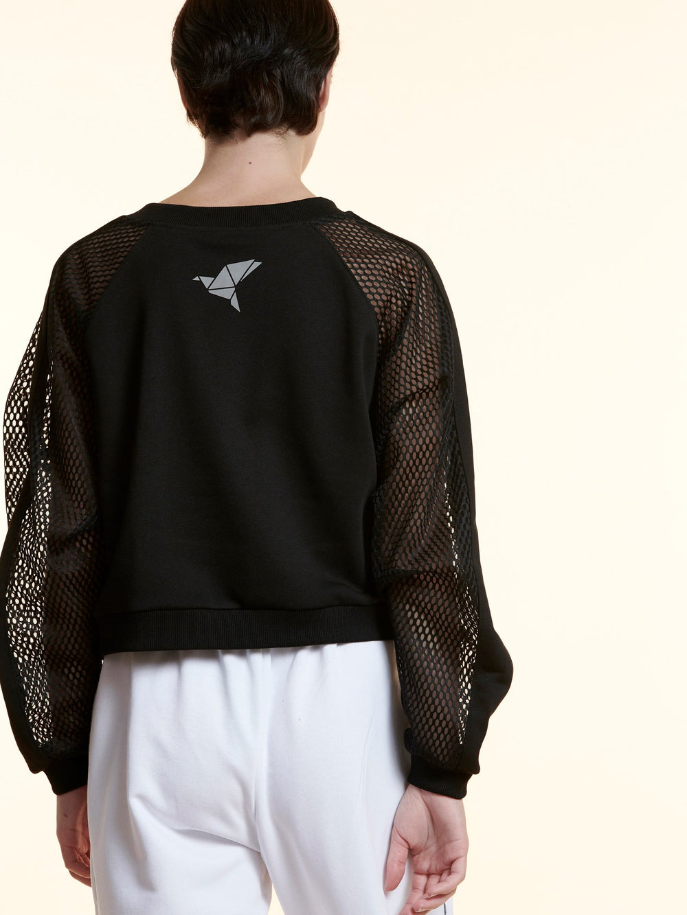 BAYA - Sweater with Mesh Sleeves - Black BY0037-BLK-OS-F