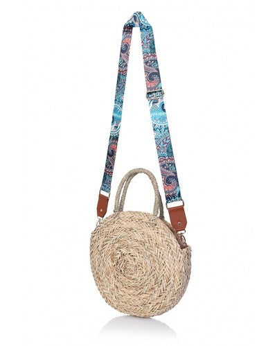 South Beach - Large Round Straw bag