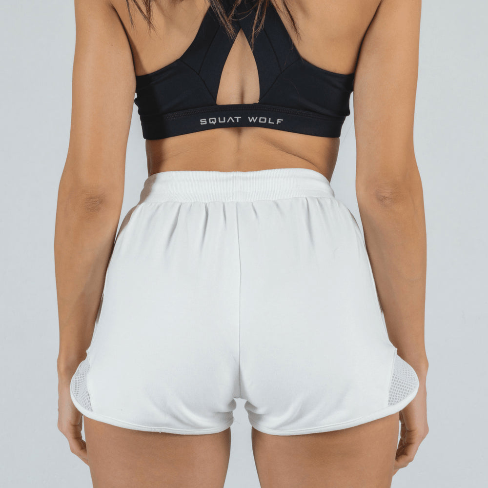 Squat Wolf - She-Wolf Shorts - Pearl White - SW0001-W-F