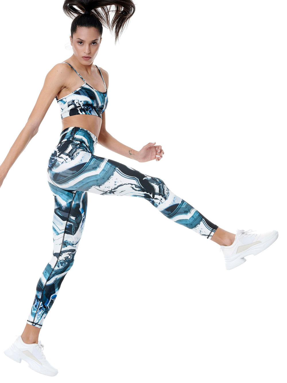 BAYA - Earth Print Activewear Set - Legging and Top BY0016-F