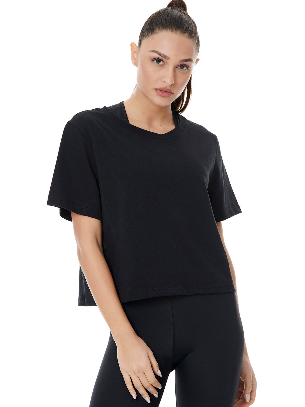 BAYA sign crop tee