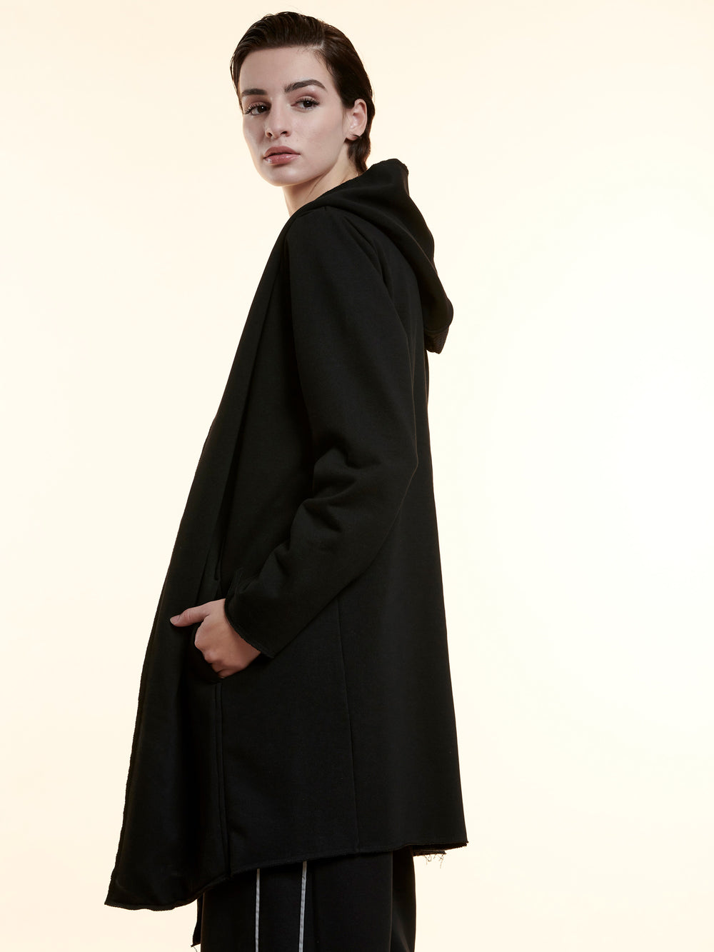 BAYA - Long Reflective Hoodie - Black BY0022-BLK-OS-F