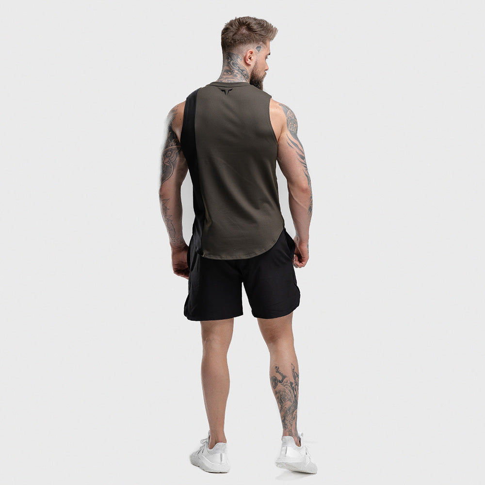 Squat Wolf - Hype Tank Top - Olive with Black Panel - SQ0013-O-M