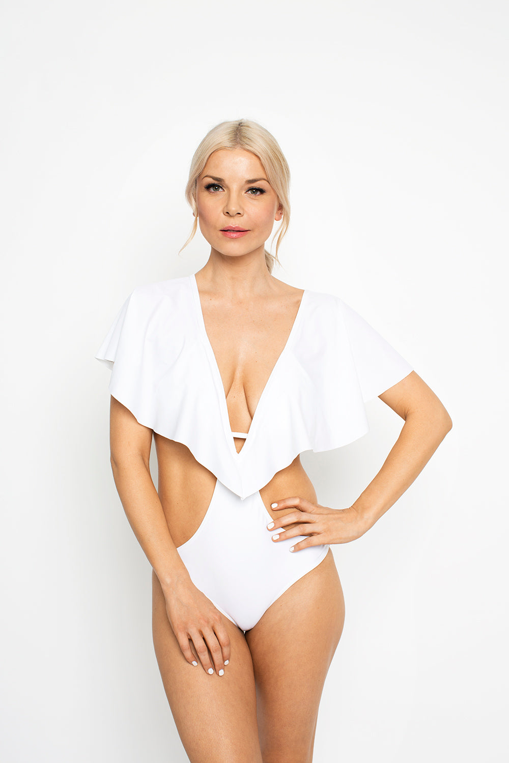 West Seventy Nine - Skychaser Caped Monokini - White WSN0004-W-F