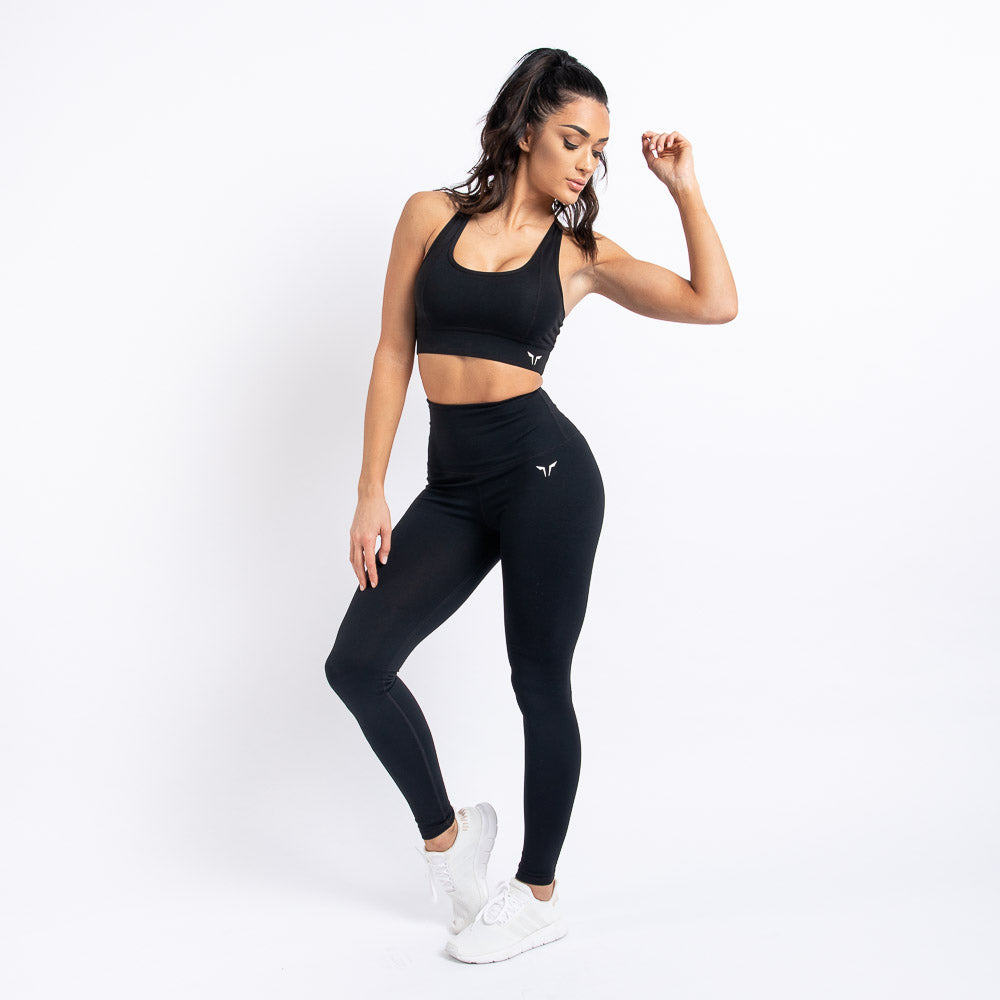 Squat Wolf - Hera High-Waisted Leggings - Black