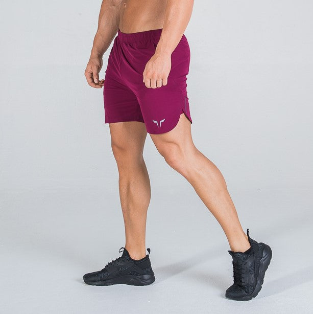 Squat Wolf - Dry-Tech Shorts - Maroon - SQ0005-M-M