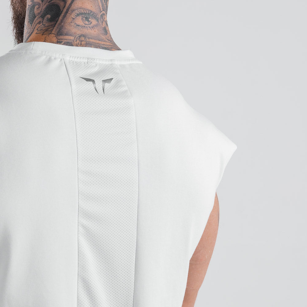 Squat Wolf - Statement Drop Shoulder Top - Off-White - SQ0024-W-M