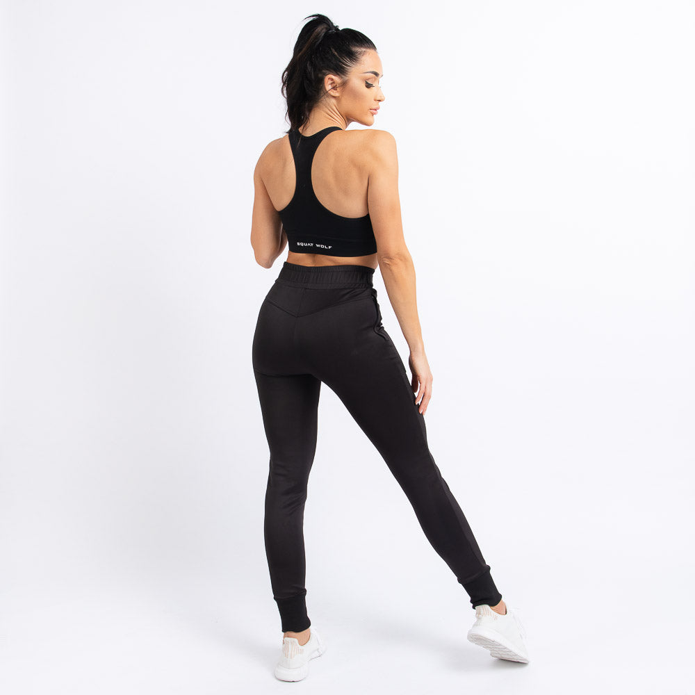 Squat Wolf - She-Wolf Do-Knot Joggers - Black - SW0004-BLK-F
