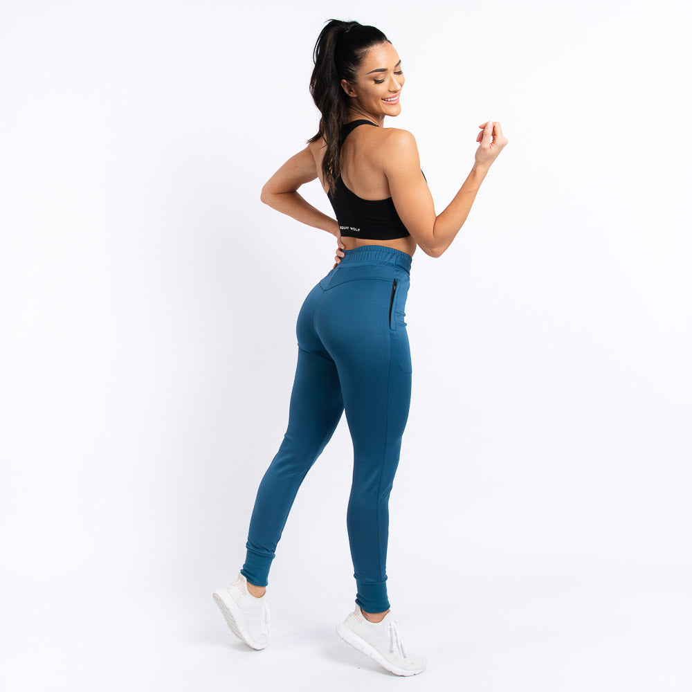 Squat Wolf - She-Wolf Do-Knot Joggers - Teal - SW0004-T-F