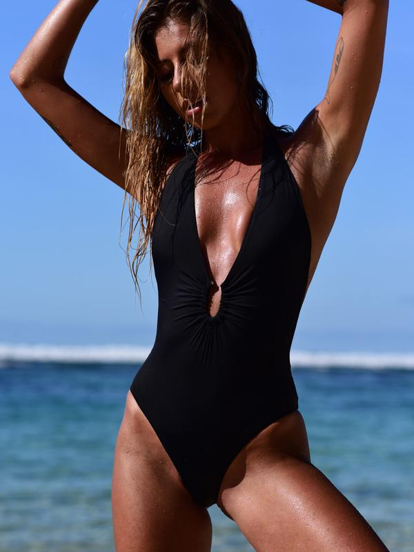 SixtyNinety Champagne One Piece BLACK