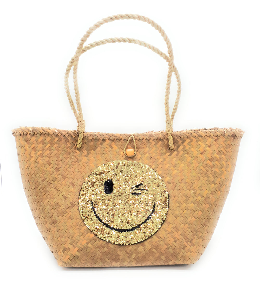 Smiley Beach Bag Medium - BA-S-M-F-A