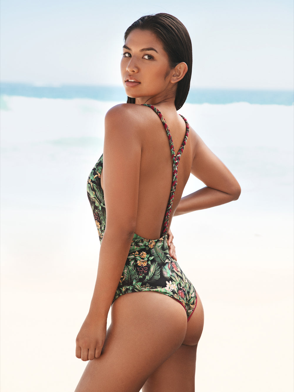 Long Island Reversible One Piece - Flora and Pink back