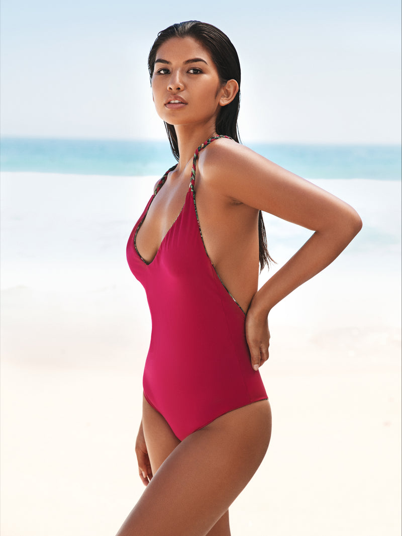 Long Island Reversible One Piece Flora and Pink