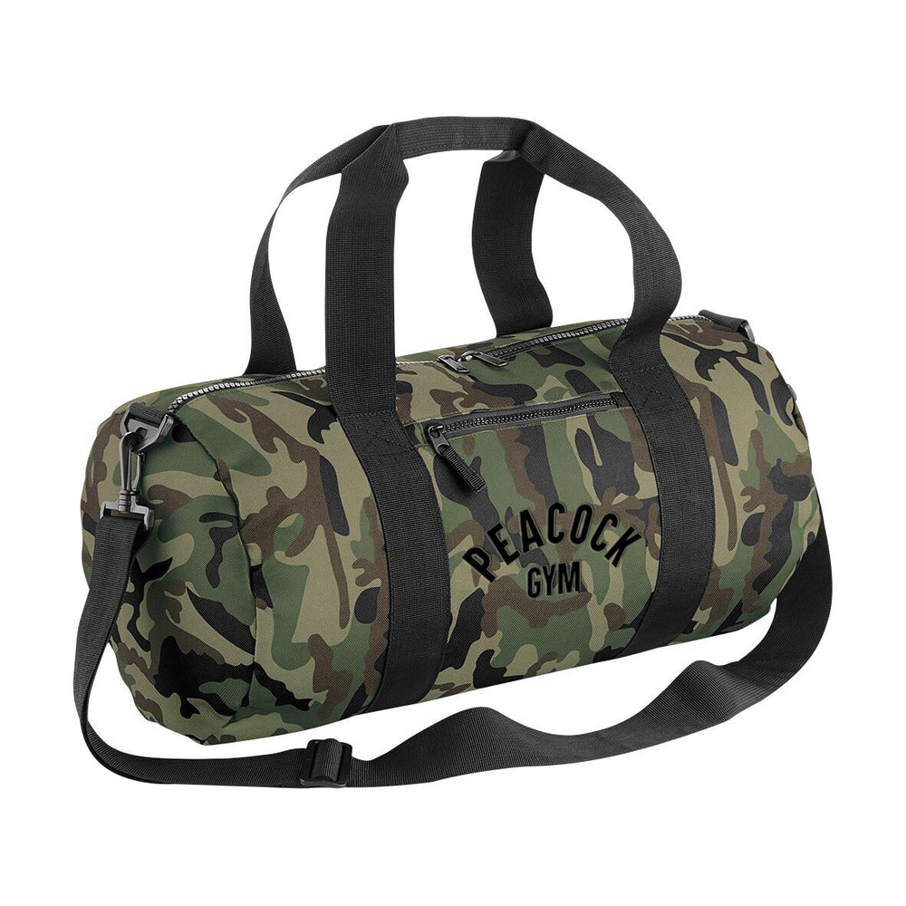 Peacock Gym Duffle Bag Camo