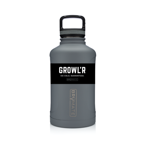 BRÜMATE Growl'r - Matte Gray by: Northwest Snap, Inc. Customized with Your Personalization