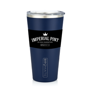 BRÜMATE Imperial Pint - Matte Navy by: Northwest Snap, Inc. Customized with Your Personalization