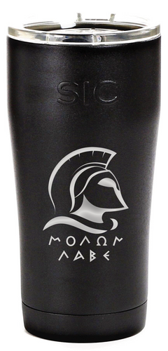 Personalized Molon Labe SIC 20oz Tumbler - Tuff Matte Black by: Northwest Snap, Inc. Customized with Your Personalization