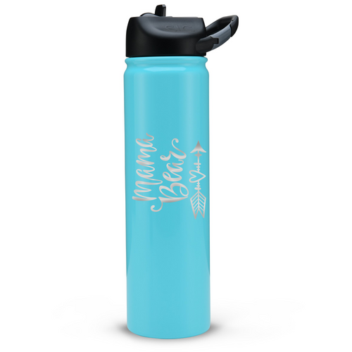 Personalized Momma Bear SIC 27oz Bottle - Gloss Seafoam by: Northwest Snap, Inc. Customized with Your Personalization