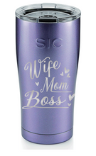 Load image into Gallery viewer, Personalized Wife,Mom, Boss SIC 20oz Tumbler - Ultraviolet Glitter by: Northwest Snap, Inc. Customized with Your Personalization