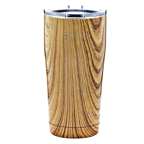 SIC 20oz Tumbler - Wood Grain by: Northwest Snap, Inc. Customized with Your Personalization