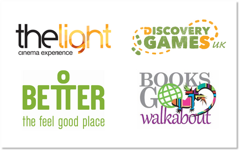 Prize sponsor logos The Light Cinema, Better, Discvoery Games UK, Books Go Walkabout