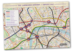 Preview of one of the context maps used in the London Landmarks Mystery