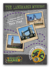 London Landmarks Mystery clue booklet front cover