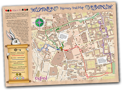 Wonderland themed treasure hunt in Oxford map