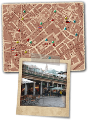 Mr Punch murder mystery in covent garden map