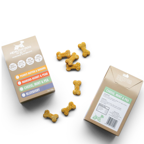 manuka honey and pear dog biscuits natural slow baked dog treads using 100% natural ingredients made in New Zealand
