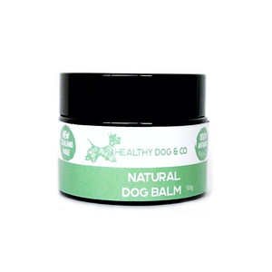 healthy dog and co's natural dog balm for your dogs itchy skin and small scratches