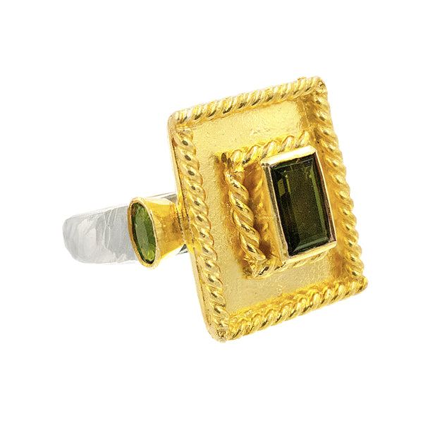 Indra Green Tourmaline Ring
