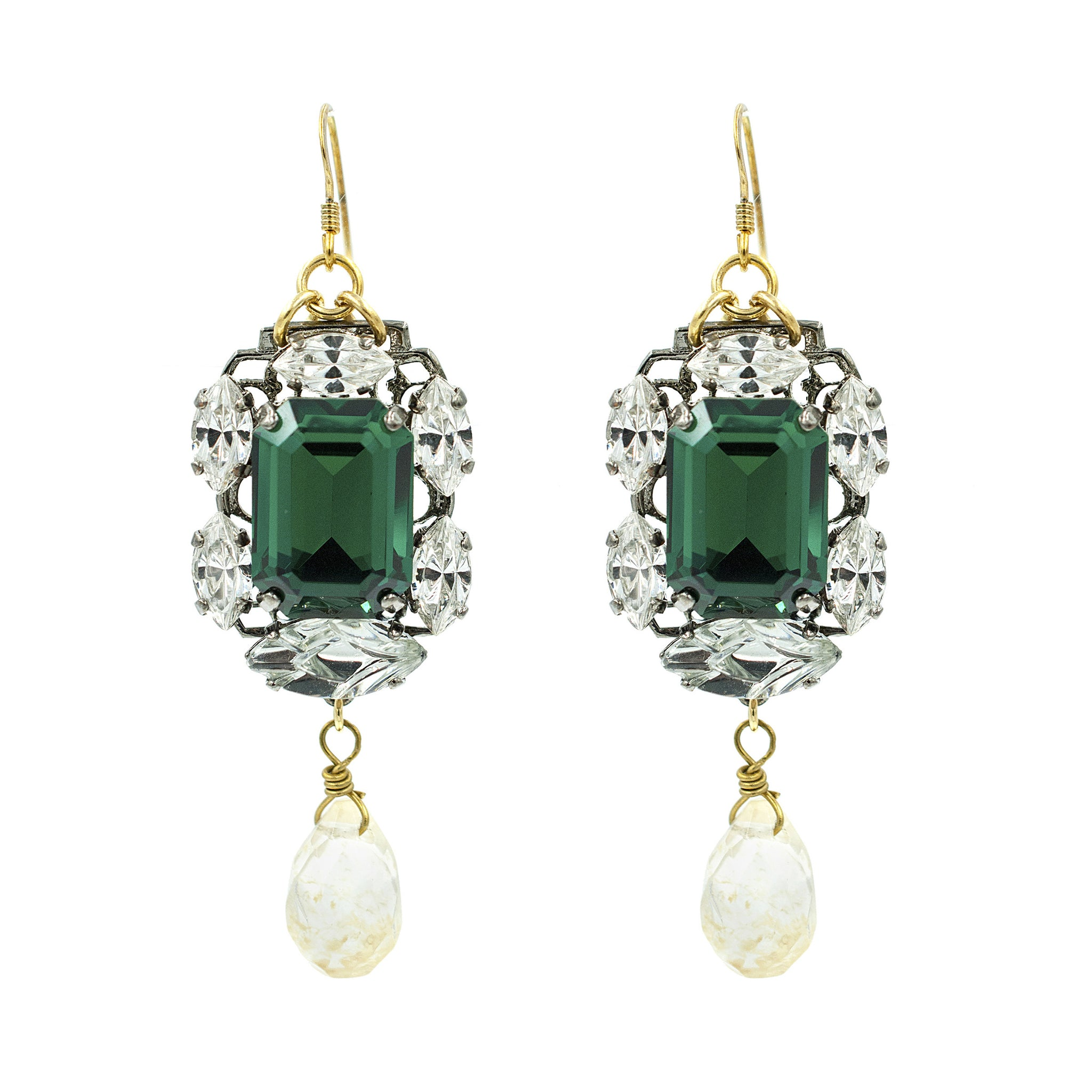 little jewellery products two emerald simulated switzerland earrings stone