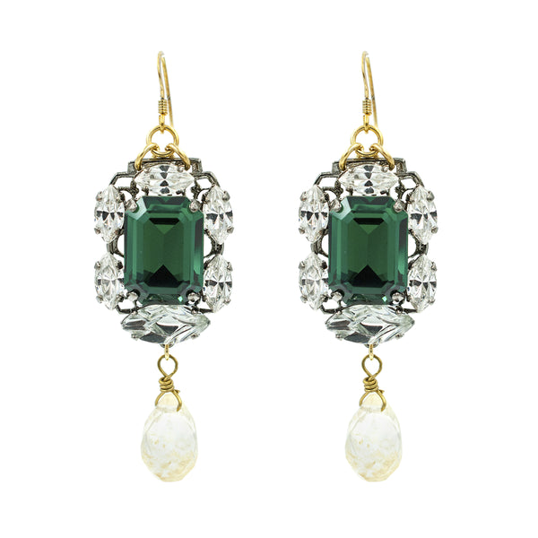 Entrapping Emerald Earrings