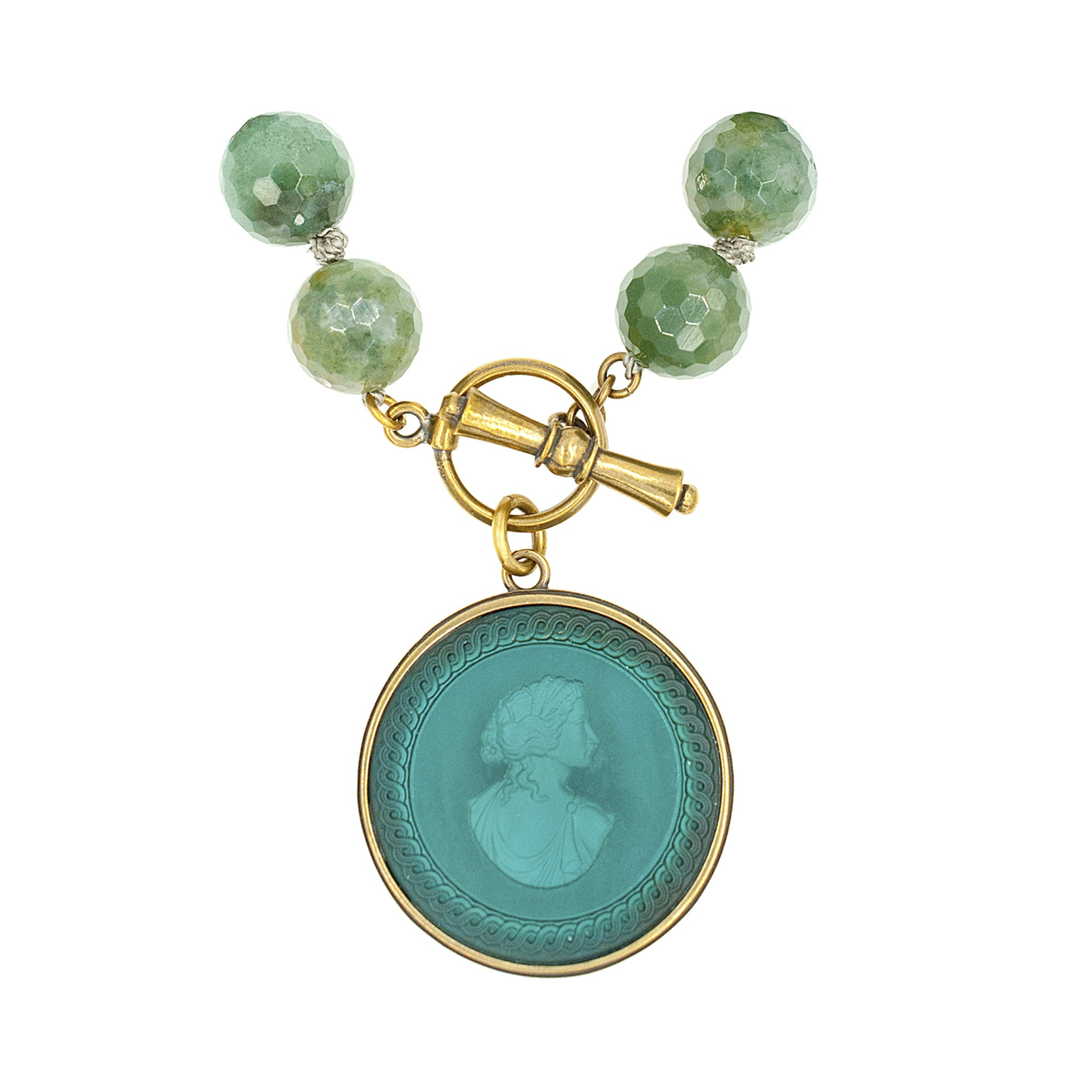 pearls rubies glass while pendant meribella jewelry necklace shell cast designs intaglio past venetian teal shop