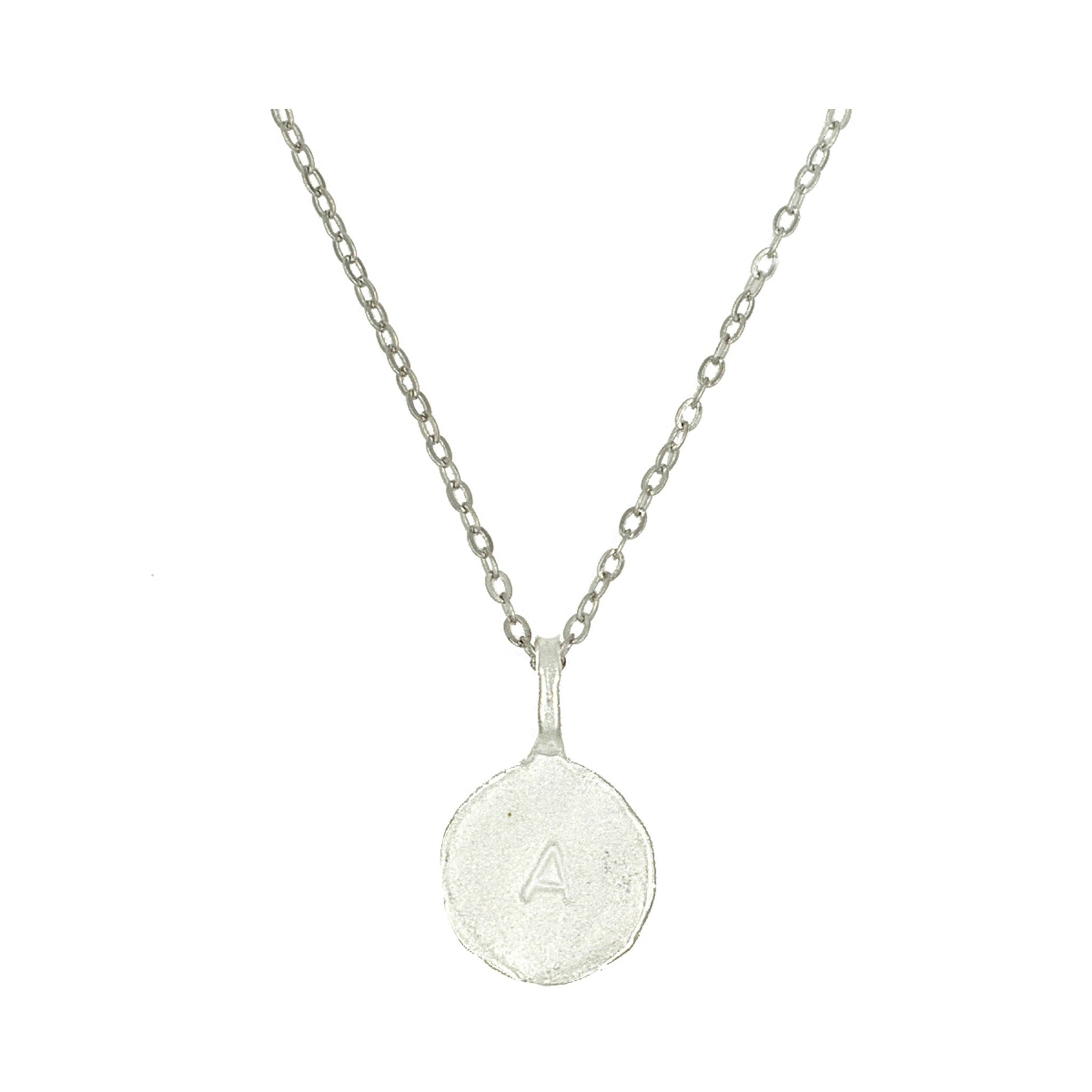 necklace silver plated disk shimmering rhodium vanilla polished products sterling