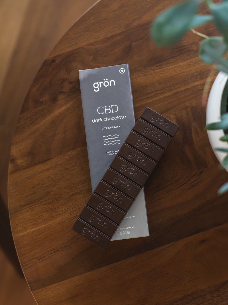 CBD Dark Chocolate with Sea Salt - Stone & Leaf CBD