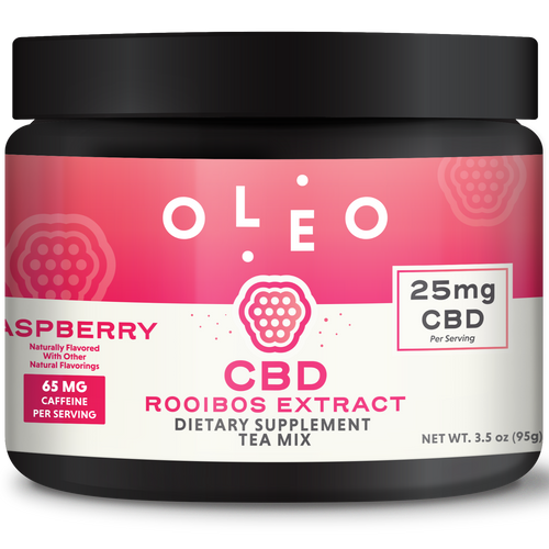 Raspberry Rooibos CBD Tea Mix 250mg - Stone & Leaf CBD